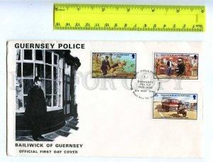 206328 Bailiwick of Guernsey Police Shepherd 1980 year FDC
