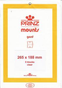 PRINZ CLEAR MOUNTS 265X188 (5) RETAIL PRICE $14.00