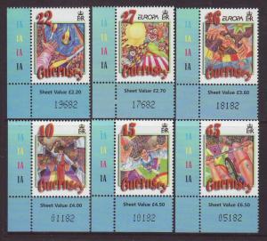 2002 Guernsey Europa Set U/M SG942/947