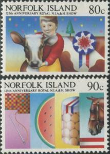 Norfolk Island 1985 SG371-372 Agricultural and Horticultural set MNH