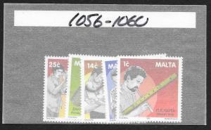 MALTA Sc#1056-1060 Complete Mint Never Hinged Set