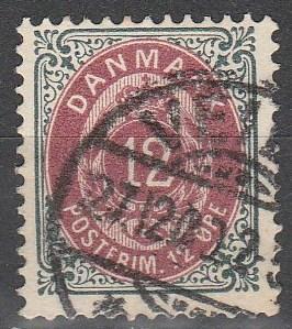 Denmark #46 F-VF Used CV $4.00 (V2833)