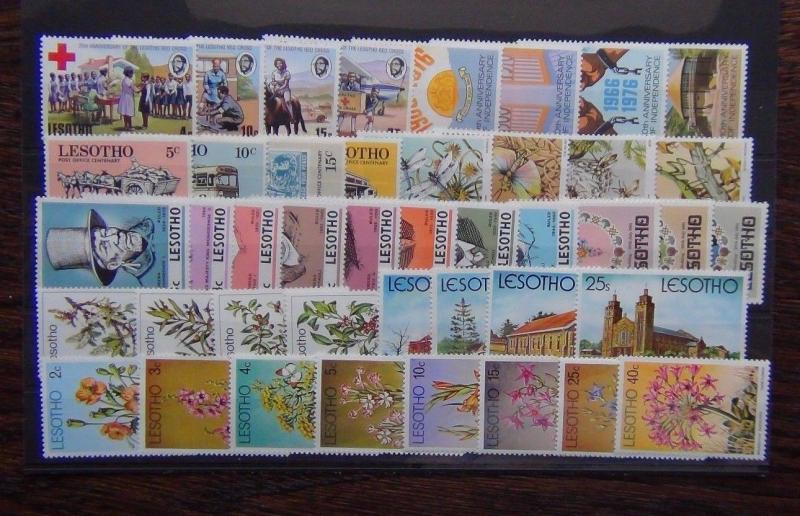 Lesotho 1972 1981 sets Leaders Insects Trees Flowers Christmas R Wedding MNH