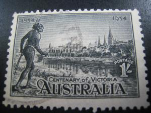 AUSTRALIA - SCOTT # 144a   Used   (APS A-8)