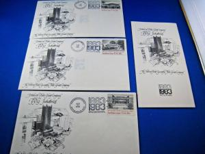 PPG INDUSTRIES 1983 SET OF 3 COVERS WITH PPG BROCHURE INSERTS