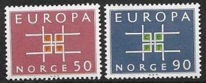 Norway 441-42  1963  set  2  VF NH