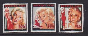 BURKINA FASO  STAMPS MNH OF MARILYN MONROE #1012-1014 .LOT#439