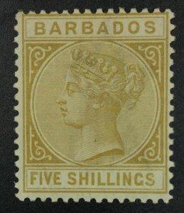 MOMEN: BARBADOS SG #103 MINT OG LH £170 LOT #62048