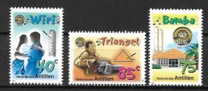 Netherlands Antilles 867-69 50th GOG for Youth set MNH