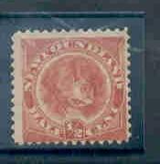Newfoundland Sc57 1/2c  orange red dog stamp mint