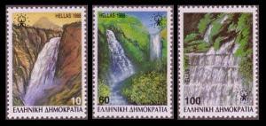Greece European Campaign Waterfalls 3v SG#1791-1793A MI#1692-1694A