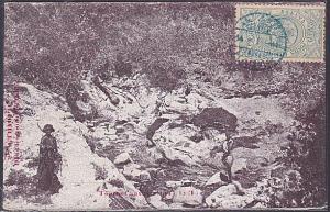 ETHIOPIA 1911 postcard - 1/4g with HARAR cds in blue.......................53695