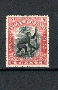 North Borneo 1900 4c Orangutan perf 14 1/2-15 MH
