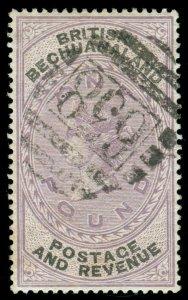 MOMEN: BECHUANALAND SG #20 1888 USED **CERT** LOT #60127