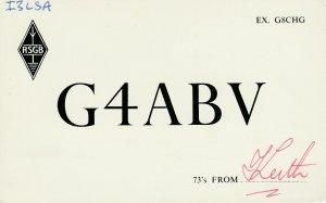7031 Amateur Radio QSL Card  WARWICKSHIRE ENGLAND