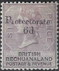 Bechuanaland Protectorate 1888 SC 65 MLH SCV $125.00
