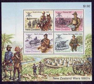 New Zealand-Sc#814a- id5-unusedNH sheet-Military-1984-