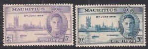 Mauritius 1946 KGV1 Set of Victory Umm SG 264 – 265 ( C808 )