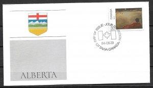1984 Canada 1021  Canada Day: Alberta FDC