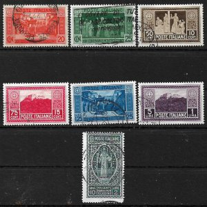 COLLECTION LOT #363 ITALY # 232-8 1929 CV+$618 ALL USED