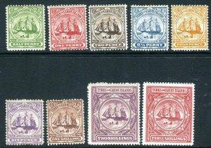 TURKS & CAICOS ISLANDS-1900-4 A mounted mint set Sg 101-109