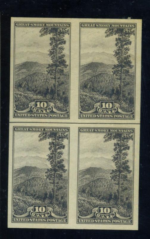 765 MINT Block w Horz Line VF NH Cat$18