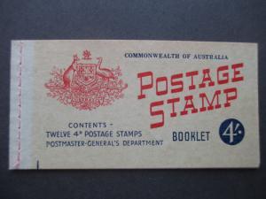 1957 SG SB33 4/- BOOKLET WITH 2 PANES OF SG282aab CV €14.00, FREE STD SHIP W/W