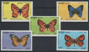 1993 Cambodge 1354-1358 Butterflies 12,00 €