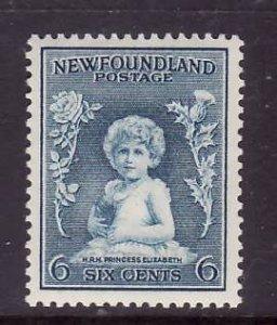 Newfoundland-Sc #192-unused,og, NH 6c Princess Elizabeth-id5-1932-7-