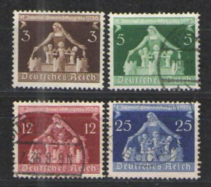 Germany - Third Reich 1936 Sc# 473-476 Used VG -Municipalities set