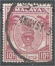 PERAK, 1950, used 10c, Sultan Yussuf Izuddin Scott 111