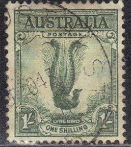 AUSTRALIA SC# 141 USED 1sh 1932   LYRE BIRD  SEE SCAN