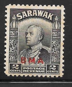 Sarawak 136: 2c Sir Charles Vyner Brooke overprint, MH, F-VF