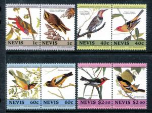 Nevis 407-414 MNH John Audubon's birds 1985 Eastern Bluebird Northern   x16431