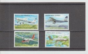 Papua New Guinea  Scott#  687-690  MH  (1987 Aircraft)