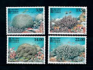 [99596] Sri Lanka 2000 Marine Life Corals Fish  MNH