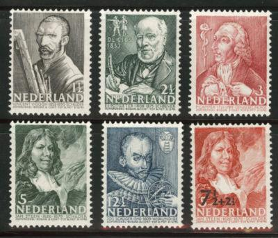 Netherlands Scott B123-128 MH* 1940 semi-postal set