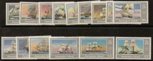 ASCENSION SG409/23 1986 SHIPS OF THE ROYAL NAVY MNH