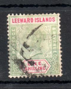 Leeward Islands 1890 QV 1/- SG#7 fine used WS13155