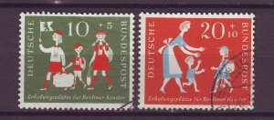 J25557 JLstamps 1957 germany set used #b354-5 children