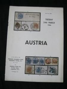 ROBSON LOWE AUCTION CATALOGUE 1964 AUSTRIA