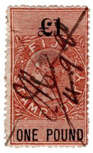 (I.B) Fiji Revenue : Duty Stamp £1