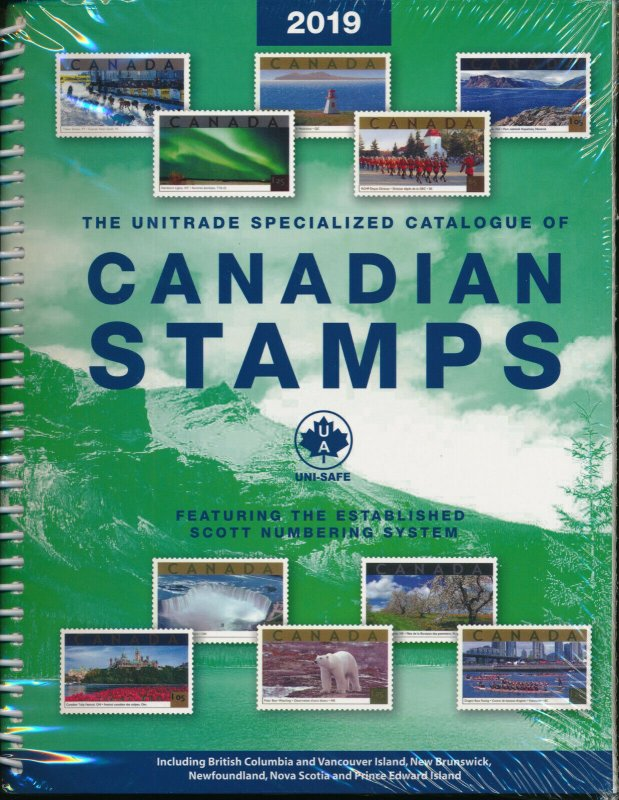 2019 Unitrade Specialized Catalogue of Canadian Stamps w/ Scott Numbering  Guide
