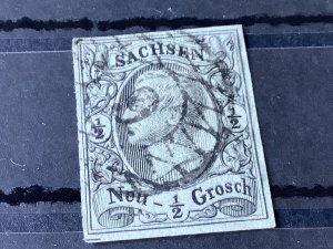 Saxony 1855 Grid Number 9  for Zwickau  Cancel Stamp 57176