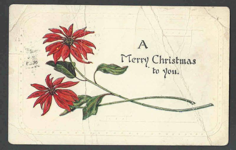 1924 PPC* Xmas Seal #WX32 On Back Of Xmas Card Untied Has Creases