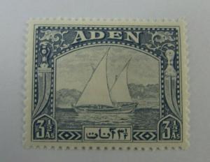 1937 Aden Yemen SC #7 Sailboats  MH stamp