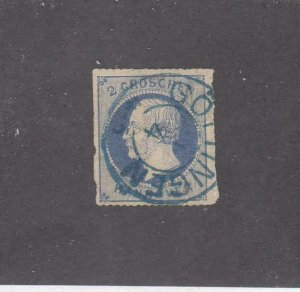 GERMANY HANOVER # 28 IMPERF SON TOWN DATED CANCEL CAT VALUE $60