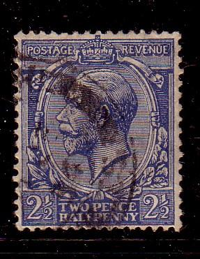 Great Britain Sc 191 1924 2 ½ d G V stamp used