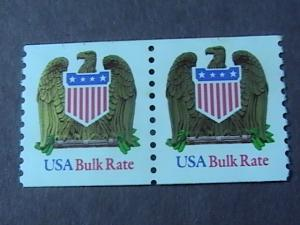 U.S.# 2604-MINT/NEVER HINGED---COIL PAIR---BULK RATE---EAGLE & SHIELD-1993