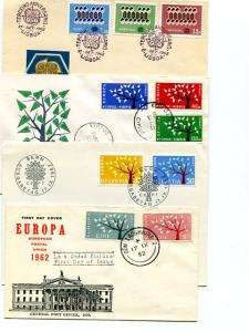 Europa 1963 Cyprus, Portugal, Ireland ,Switzerland   FDC unaddressed VF